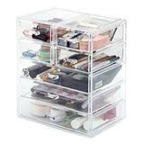 EZOWare Acrylic Cosmetic Organizer with 7-Drawer Display Storage Container