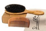 Dovahlia Boar Bristle Hair Brush Set for Women and Men