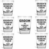 USA Custom Gifts Grooms Drinking Team Shot Glasses