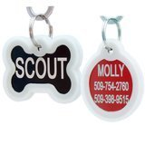GoTags Personalized Stainless Steel ID Tag with Silencer