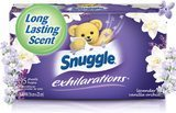 Snuggle Lavender & Vanilla Orchid Exhilarations Fabric Softener Dryer Sheets