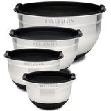 Bellemain Stainless Steel Nonslip Mixing Bowls with Lids