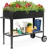Best Choice Products Mobile Raised Metal Planter