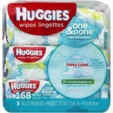 Huggies One and Done Baby Wipes 3 packs 56-count