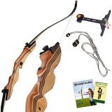 Keshes Takedown Hunting Recurve Bow and Arrow