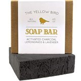 The Yellow Bird Soap Bar Activated Charcoal Lemongrass and Lavender