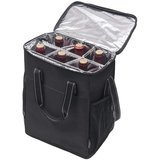 Kato 6 Bottle Wine Carrier - Insulated Portable Wine Carry Cooler Tote Bag for Travel or Picnic