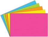 "Top Notch Teacher Products 5 x 8"" Brite Assorted Index Cards, 100-Pack"