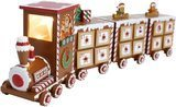 PIONEER-EFFORT Christmas Wooden Advent Calendar Train